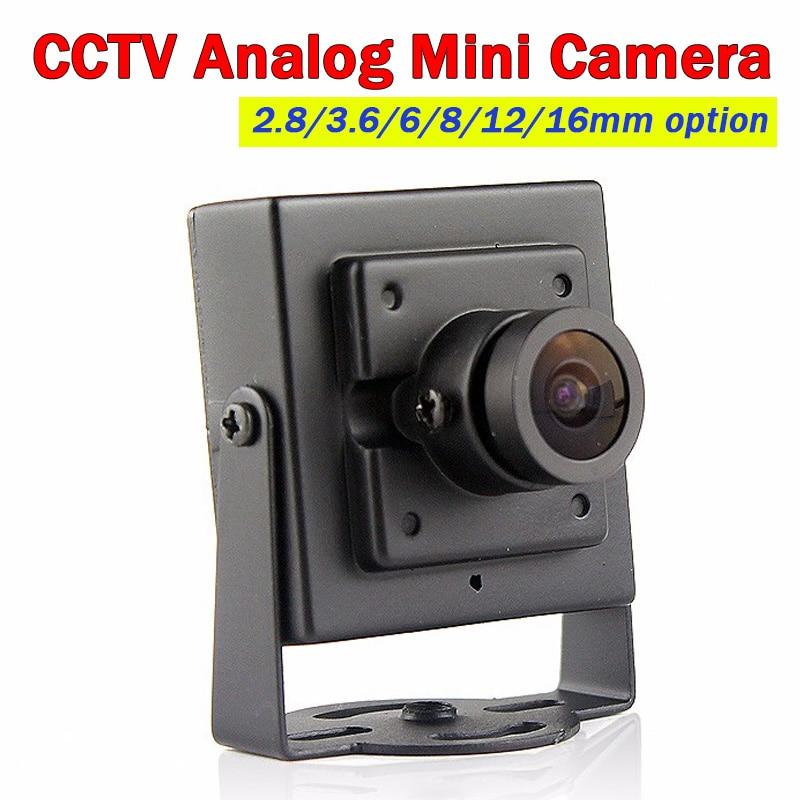 700TVL Cmos Wired Analog CCTV Security Camera 2.8/3.6/6/8/12/16MM Lens Option Camera Mini Metal Body Aerial Photography