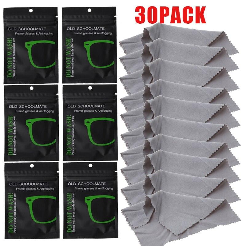 Многоразовые противотуманные салфетки для очков, 30 шт., предварительно увлажненная противотуманная салфетка для линз, салфетка для защиты ...