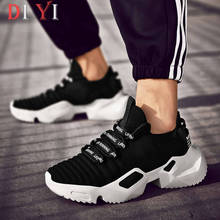 Knitting Men Running Shoes Thick-soled Men's Sneaker Air Mes