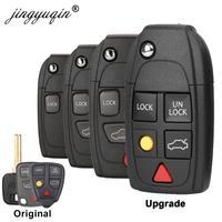 Funda de llave plegable a control remoto con botones 4/5 para Volvo XC70 XC90 V50 V70 S60 S80 C30