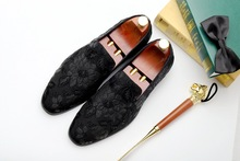 2019 Embroidery Handmade Classic Men's Loafer 100% Genuine Leather Casual Oxford Shoes Luxury Fashion Dress Party Formal Shoes