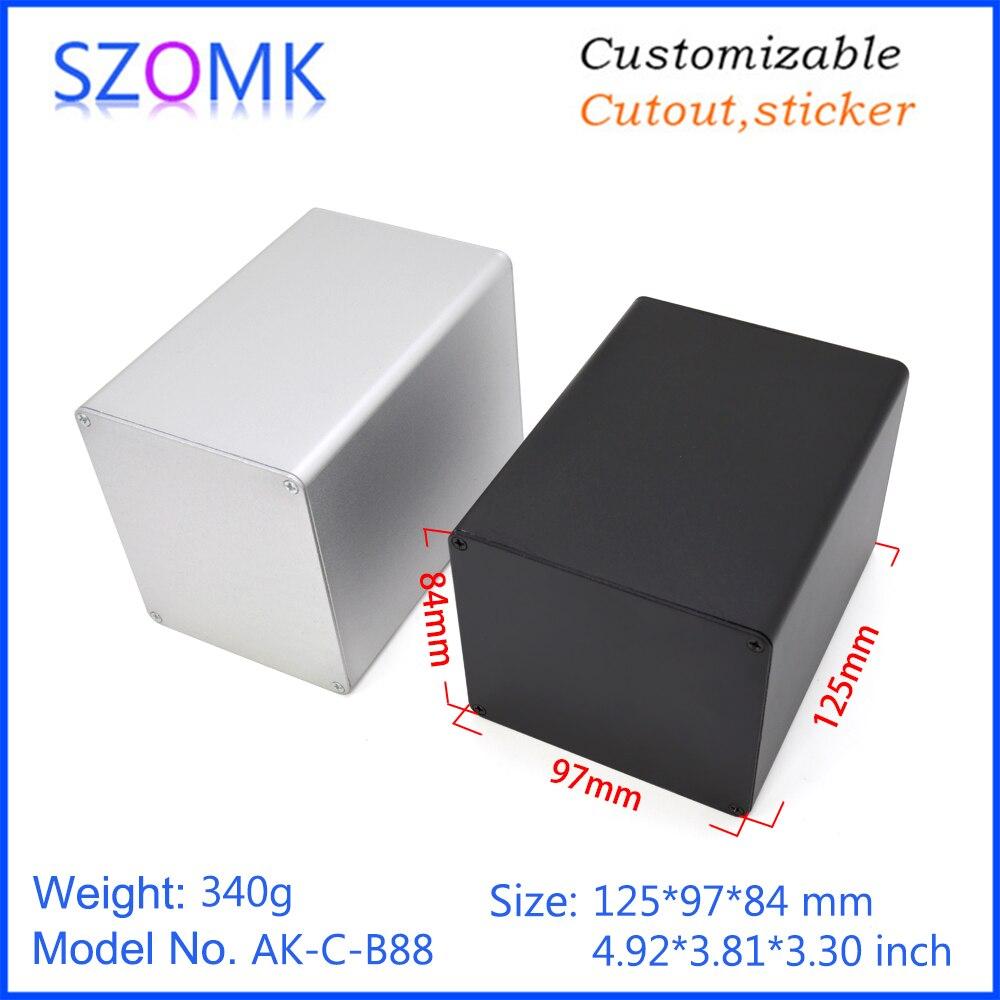 szomk aluminum enclosure for electronics device housing for pcb design audio aluminum control box enclosure casing (1)