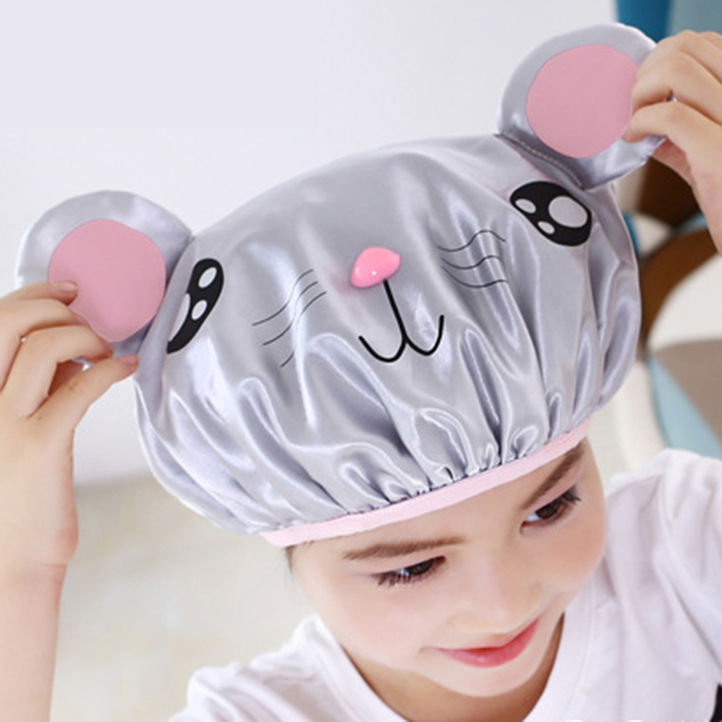 Shower Shampoo Cap Waterproof Cartoon Baby Care Bathing Hat Lovely Practical Shower Hat For Children Kids Baby