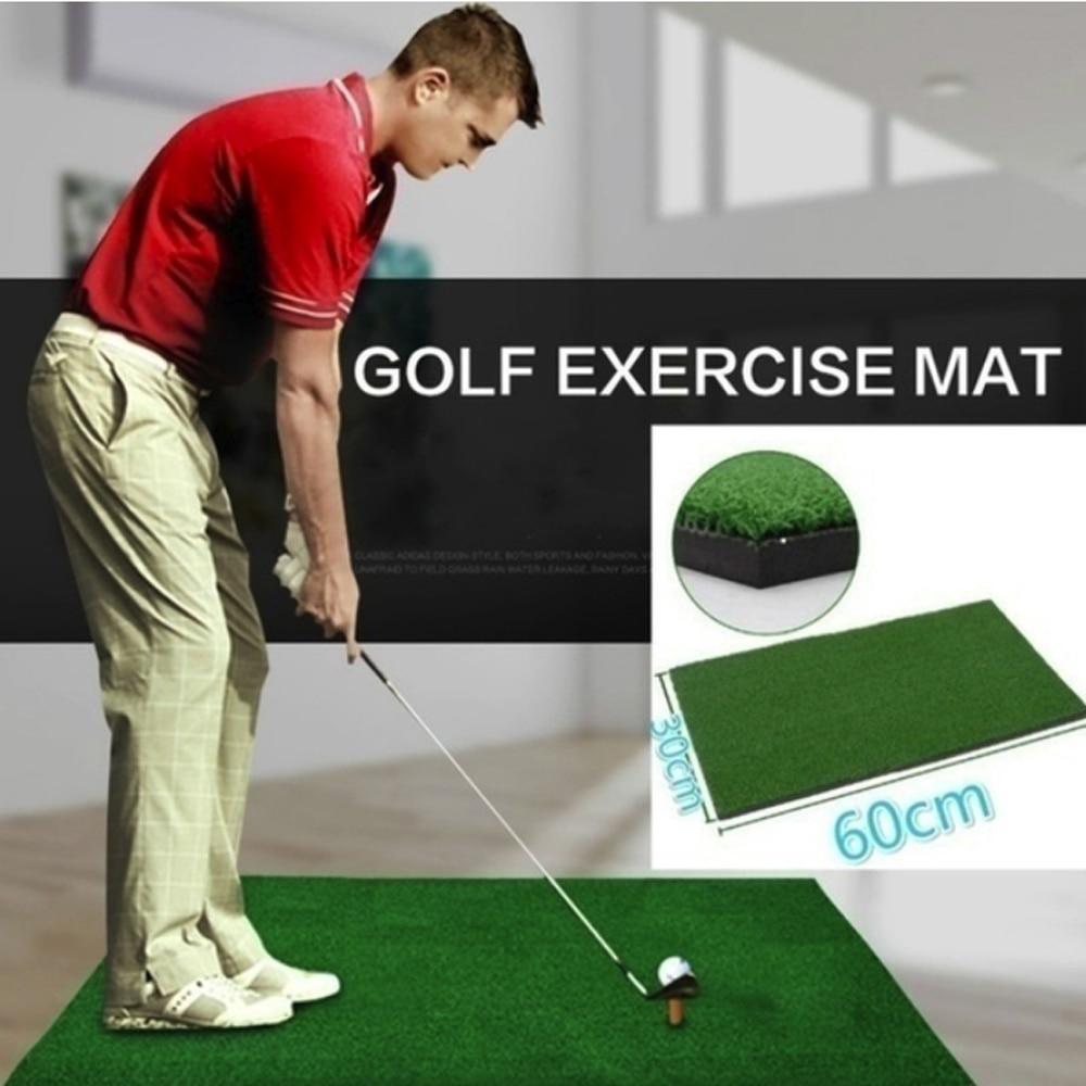 Useful Golf Practice Mat Artificial Lawn Nylon Grass Rubber Tee Backyard Outdoor Golf Hitting Mat Durable Training Pad Green