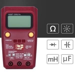 Image 5 - BSIDE ESR02PRO Digital Transistor Tester Multimetro Componenti SMD Diodo Triodo di Capacità di Induttanza Resistenza Lcr Meter