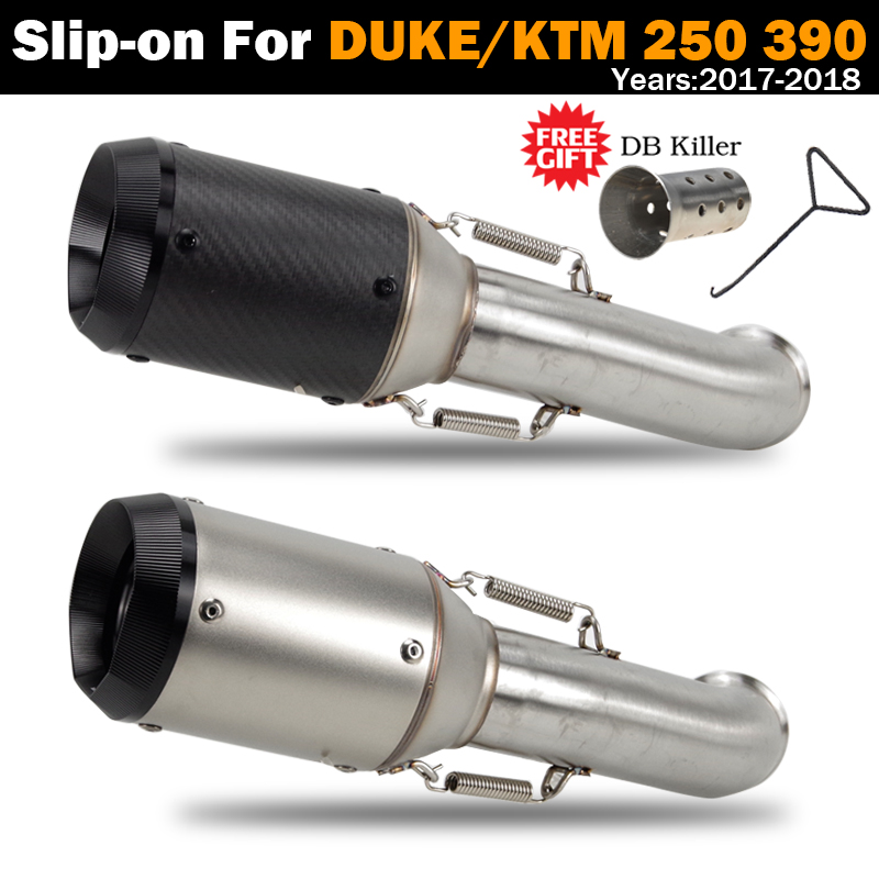 Выхлопная система мотоцикла глушитель выхлопной трубы с дБ убийцей среднее звено Слип на трубу для DUKE 125 250 390 для KTM RC390 2017-2019