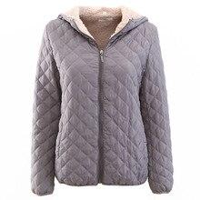 2019 Winter Women Cotton Jackets Coat Zipper Fleece Loose Warm Female Parkas Plus Size Basic Overcoats