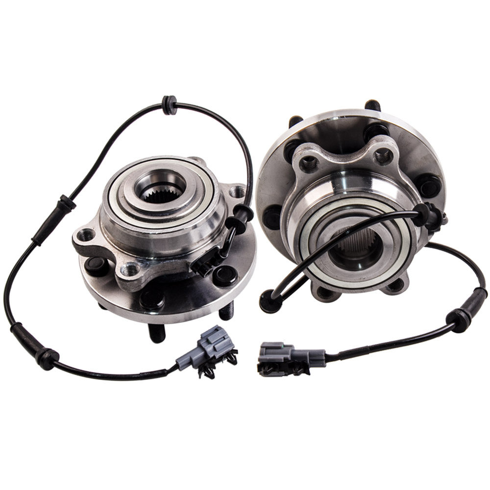 2PCS FOR NISSAN NAVARA 4WD D22 D40 ABS YD25 VQ40 2005-2012 FRONT WHEEL BEARING HUB Assembly