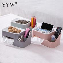 Double Layer Waterproof Tissue Box Portable Plastic Toilet Paper Holders Multifunction Tray Shelf Bathroom Products