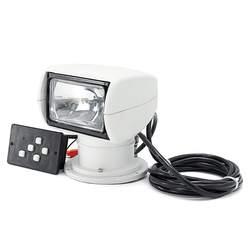 Smuxi LED Spotlight 12V Marine Boat Spotlight 2500LM 100W Remote Control White Searchlight Light PC+Aluminum Waterproof
