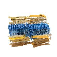 230pcs/lot Resistor Kit 2W 1% 23values X 10pcs Metal Film Resistor Assortment Kit Set 22 ohm - 1mohm resistor samples kit