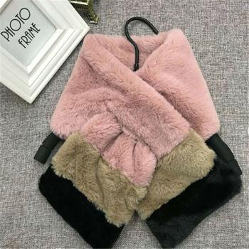 Girl's Eco-Fur Striped Scarf 6