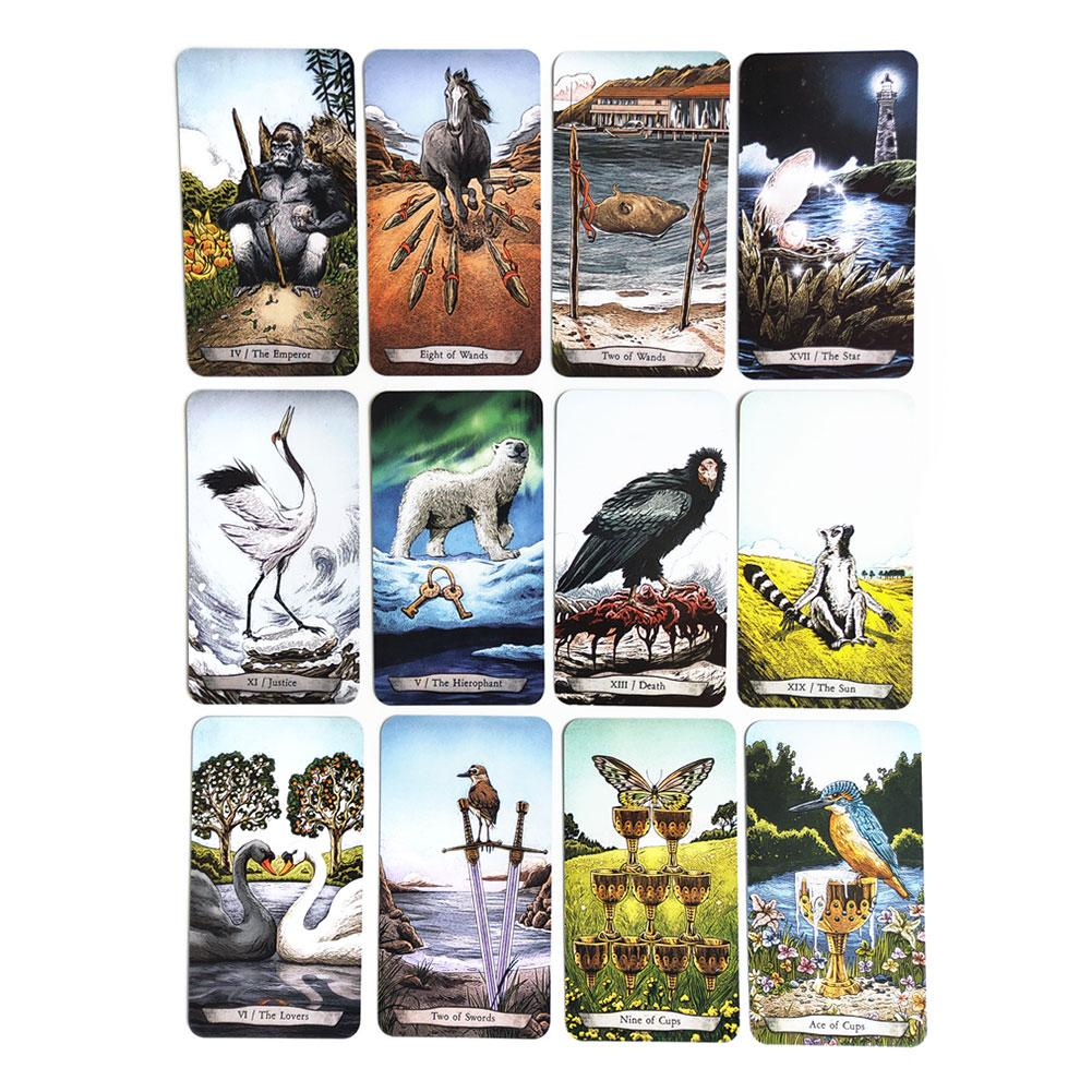 78 PCS/Set New Animal Totem Tarot Cards Deck Card Games Playing Game Cards For Party Family Card Games Coated Paper Material