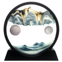 Motion-Display Sand-Art Picture Relaxing-Deskt Moving Gl 3D Deep-Sea-Sandscape Flowing
