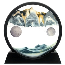 Moving Sand Art Picture Gl 3D Deep Sea Sandscape in Motion Display Flowing Sand Frame Relaxing Deskt
