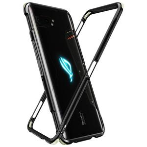 MME ASUS ROG 2 Phone Case Bumper Case Aluminum Metal Case Luminous Corner Shockproof Full Body Protection Case Cover(China)