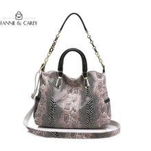 ¡Moda 2020! Bolso de lujo para mujer, serpentina de cuero auténtico bandolera, bolso para mujer, diseño de alta calidad con cadena para mujer