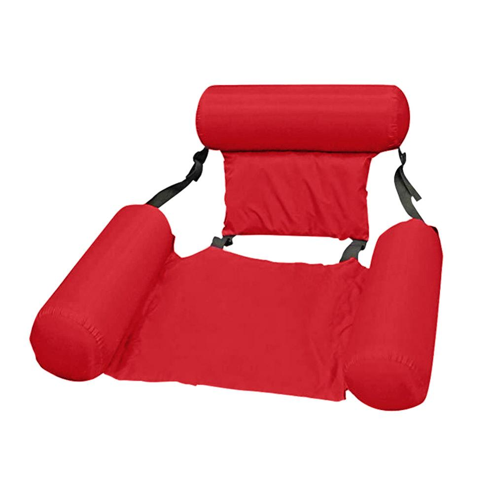Swimming Pool Inflatable Mat Floating Bed Chair Foldable Summer Swimming Float Mattress Sleeping Cushion Water Hammock Recliner
