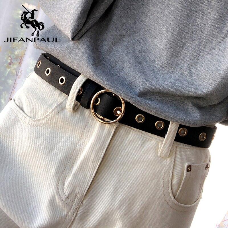 JIFANPAUL Ladies Luxury Brand Fashion Belt Alloy Pin Buckle Thin Belt Sweet Beauty Adjustable Belt Jeans Wear Matching Pieces