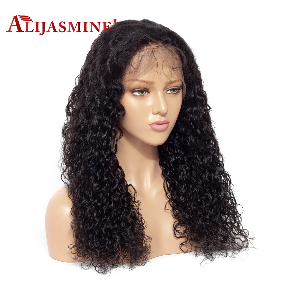 150 180% Density 13X4 Water Wave Lace Front Human Hair Wigs Peruvian Remy Hair Glueless Wig Bleached Knot Pre Plucked For Women