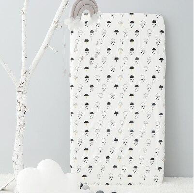 Хлопок, простыня для кроватки, мягкий матрас для детской кровати, защитный чехол, мультяшное постельное белье для новорожденных