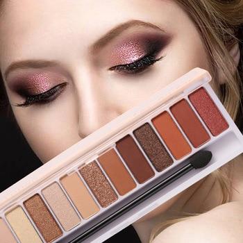 Glitter Eyeshadow Makeup Pallete Matte Eye Shadow Palette Long Lasting Waterproof Pearlescent Eyeshadow Makeup Brushes Powder недорого