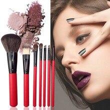 7pcs/set Make Up Brushes Set Powder Brush Blush Brush Eyeshadow Brush Set Makeup Tool With Makeup Bag