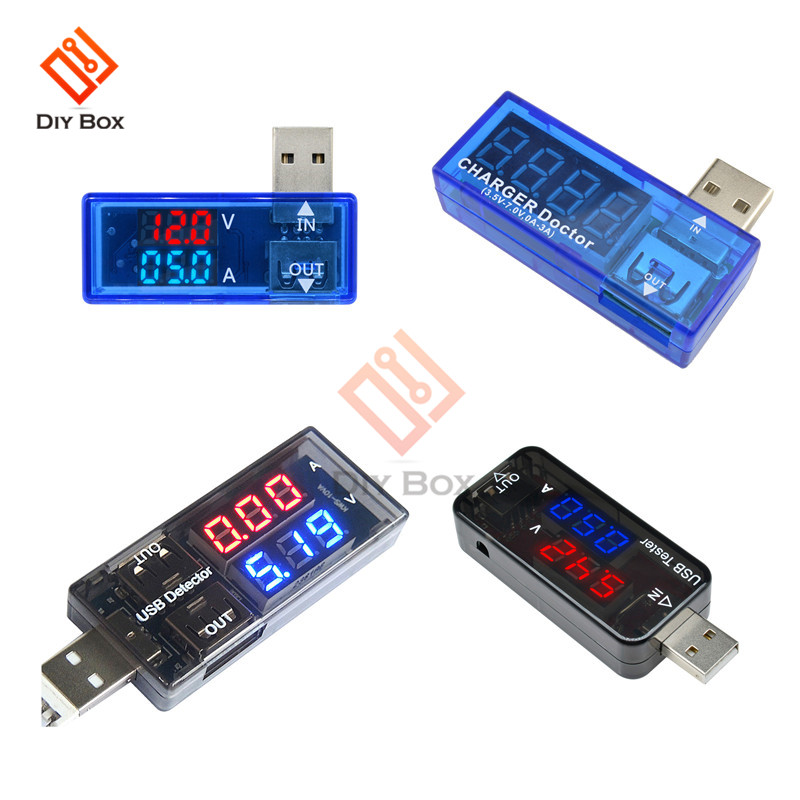 LED Digital Dual USB Port Current Voltmeter Ammeter Test Detector Tester Car Motorcycle Volt Amp Detector Doctor Meter Monitor