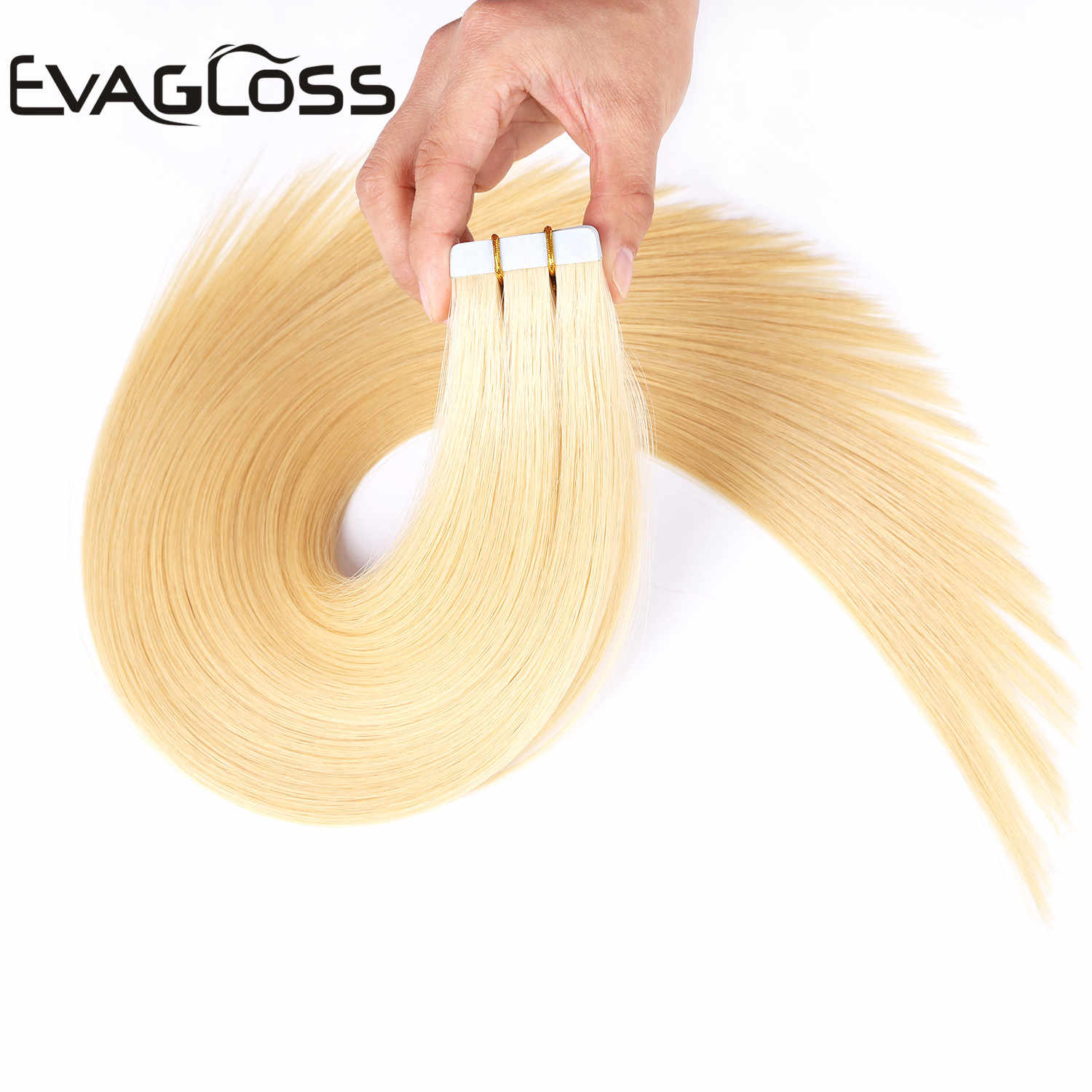 Evagloss Tape In Human Hair Extension Skin Inslag Machine Remy 20Pcs 40Pcs 80Pcs Plakband In Blonde hair Extensions