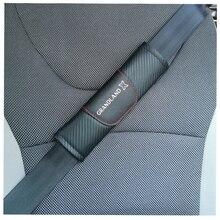 Para opel grandland x 2 pçs moda fibra de carbono couro cinto de segurança do carro capa cinto de segurança do carro almofada de ombro acessórios do carro