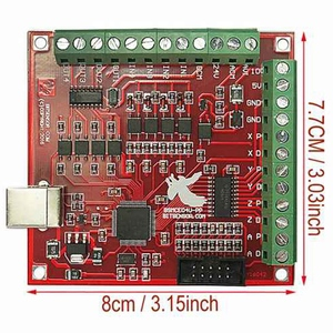 Image 2 - TOP Cnc Usb 4 osi Mach3 100 Khz Usb karta sterowania ruchem tabliczka zaciskowa 12 24V z Jog Handler do grawerowania Cnc Free Drive
