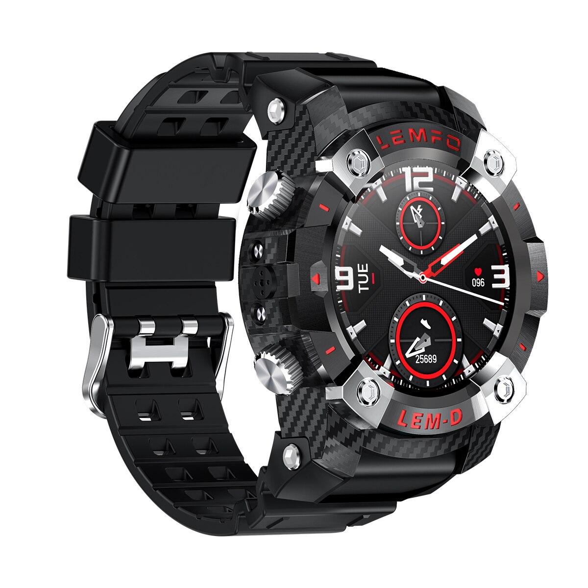 H27e819a356514f9ebb319ec7564c449cO LEMFO LEMD Smart Watch Wireless Bluetooth 5.0 Earphone 2 In 1