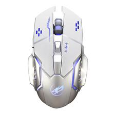 Wireless-Gaming-Mouse Warwolf Q8-Charging Colorful 6-Buttons USB with