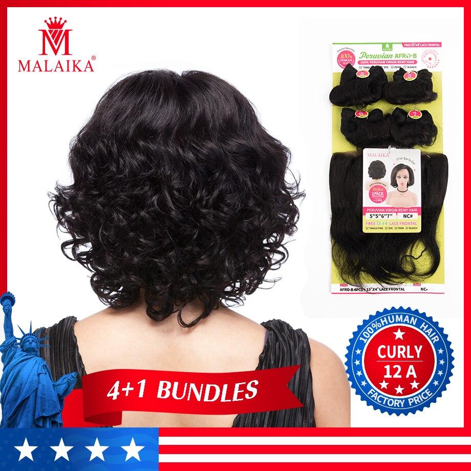 MALAIKA kinky curly Bundles Peruvian Hair Bundles 20 Inch Bundles Human Hair Bundles Non Remy Hair Weave Bundles Hair