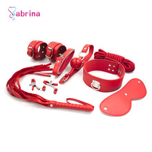 Women Sex Slave Whipping Handcuff Erotic Toys for Bdsm Bondage Set Rope Gag Nipple Clamps Adult Sex Toy for Couples Cosplay Game цена 2017