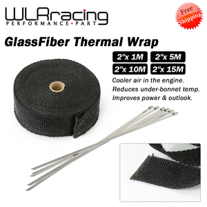 black 5M 10M 15M Heat Exhaust Thermo Wrap Shield Protective Tan Tape Fireproof Insulating Cloth Roll Kit for Motorcycle Car(China)
