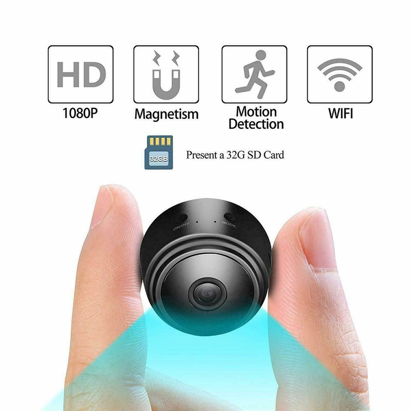 FISTAK Outdoor Mini IP Camera Wireless WiFi HD 1080P Hidden Home Security Night Vision Network Monitor Security Camera