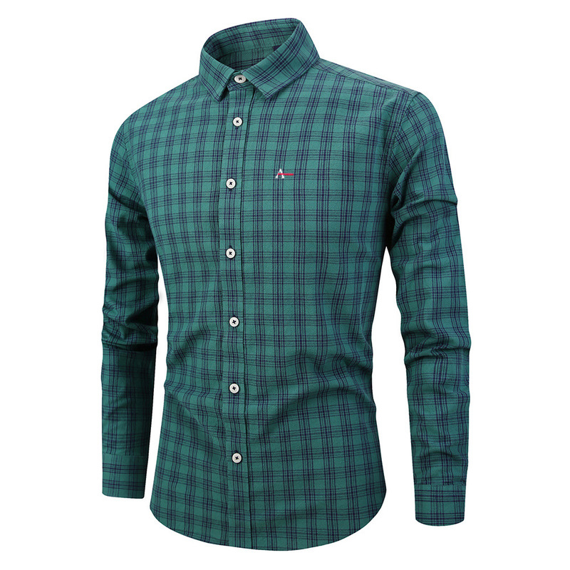 2020 New Aleatory Reserva Aramy Autumn Spring Mens Plaid Casual Tommis Shirts Camiseta Long Sleeve 100% Cotton Good Quality