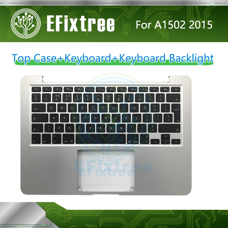 A1502 Keyboard Topcase Backlight US UK French Spanish German Russian For Macbook Pro Retina 13 Top Case Palmrest 661-0231 2015 image