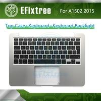 A1502 Keyboard Topcase Backlight US UK French Spanish German Russian For Macbook Pro Retina 13