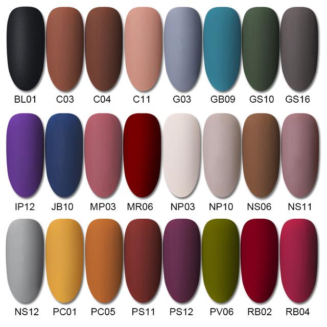 Matte Coating Nail Polish Color Gel Soak