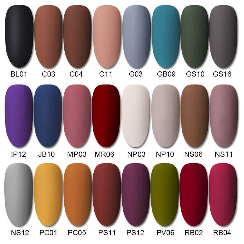 BORN PRETTY – Vernis à ongles gel semi-permanent, s'utilise avec une lampe LED ou UV, couche de finition qui donne une couleur mat, à tremper, pour l'art ongulaire