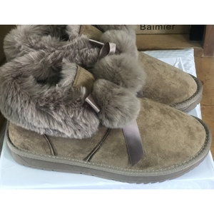 Image 4 - SWYIVY Winter Shoes Women 2019 New Snow Boots Women Pom pom Fur Warm Ankle Boots Female Casual Shoes Black Thick Non slip Botas