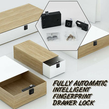 Black Automatic Smart Cabinet Drawer Digital Safety Fingerprint Lock Anti-theft(China)