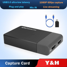 EZCAP 261M USB3.0 Video Capture 1080P 60FPS HDMI to USB 3.0 Game Video Capture Card Live Streaming Broadcast With Mic in