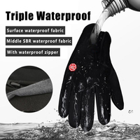 Winter Keep Warm Ski Gloves Unisex Touchscreen Waterproof Cycling Gloves Outdoor Camping Motorcycle Gloves Windstopper Gloves