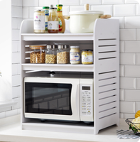 Nordic style simple kitchen microwave rack table storage rack rice cooker shelf home oven shelf kitchen appliances oven rack