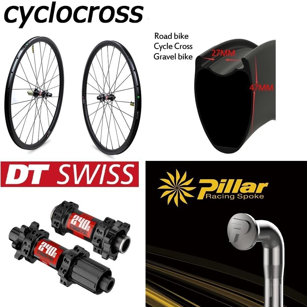 DT Swiss 240 frein à disque carbone roue Cyclocross 30 38 4750 60 88mm pneu tubulaire Tubeless jante pour 700c gravier vélo roues