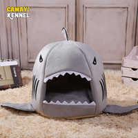 Cawayi canil tubarão casa do cão de estimação cama para cães gatos pequenos animais produtos cama perro hondenmand panier chien legowisko dla psa