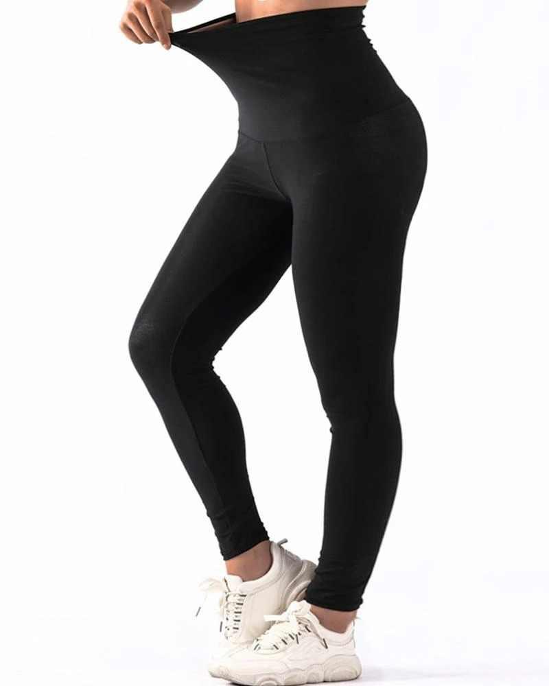 Legging Anti-CellulitePantalons de Yoga à Taille Haute pour Femme Noir